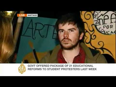 Chilean students demand education reform
