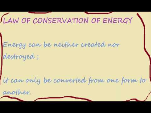 law of conservation mass