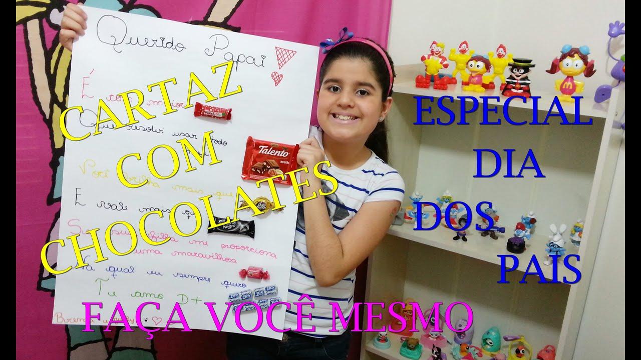 Preferência CARTAZ COM CHOCOLATES - ESPECIAL DIA DOS PAIS - FAÇA VOCÊ MESMO  HP95