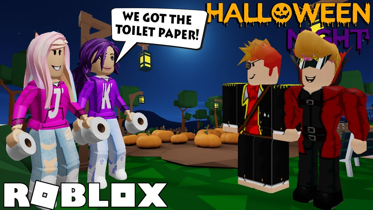 Pulling PRANKS on Halloween Night! (Endings 1, 2, & 3) / Roblox