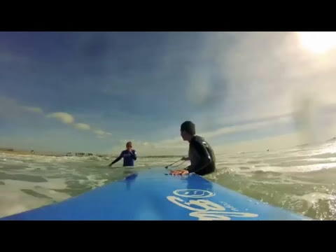 FIRST SURF LESSON! Wipeouts and Skills with Banzai Surf School!