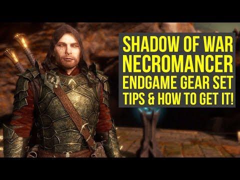Shadow of War Best Armor & Weapons NECROMANCER ENDGAME SET (Shadow of War Tips - Shadow of War armor