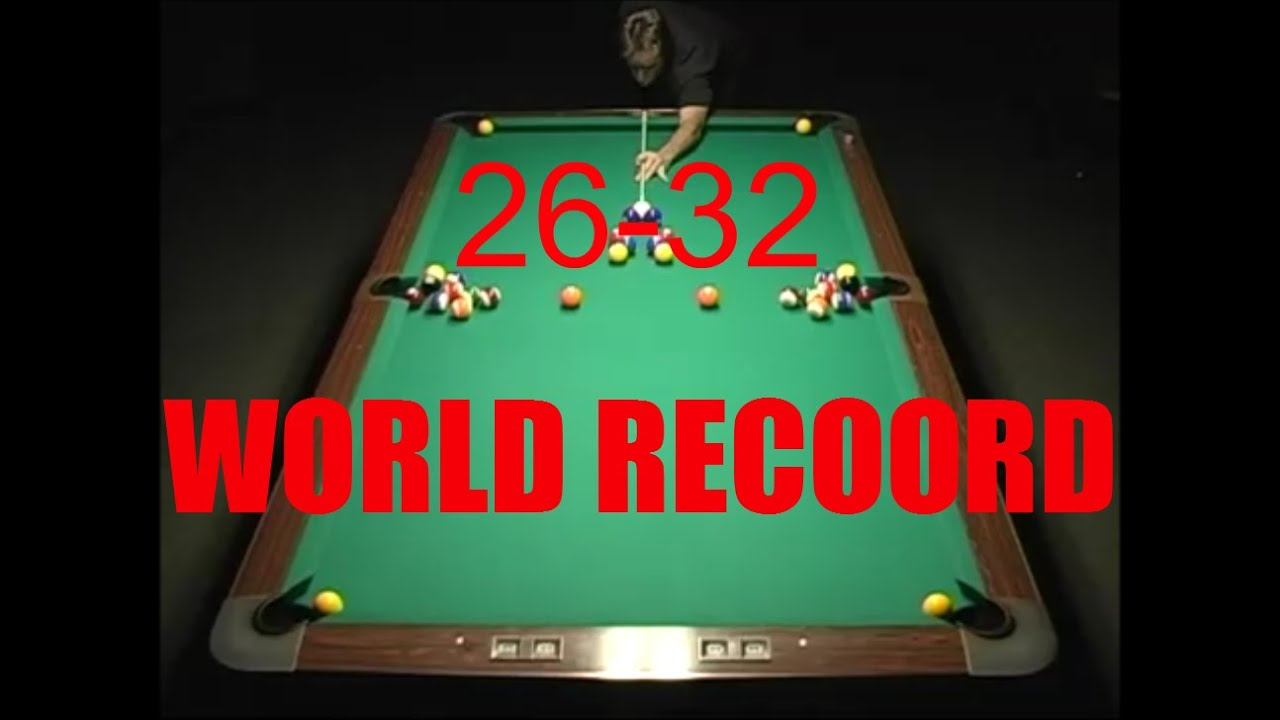 Delicieux World Record Pool Shot 2014   26 32 Balls In One Shot!   YouTube