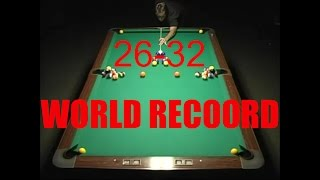 World Record Pool Shot 2014 - 26-32 Balls In One Shot!