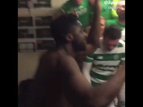 Kolo Toure Celebrates Celtic Winning The League In The Best Way Possible 😂🕺🏾🔥