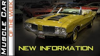 1970 Olds 442 W-30 4-Speed Convertible Revisit : Muscle Car Of The Week Video Episode 303