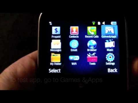 Straight Talk Samsung S390g How to install Java apps
