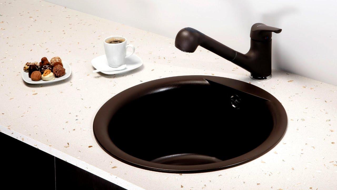 Мойка из натурального камня. Наша кухонная раковина. - YouTube