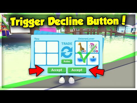 Roblox Adopt Me Tutorial Get Robux Button How To Trigger Someone S Decline Button In Adopt Me Trade Menu Hacks Youtube