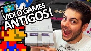 Vídeo games e jogos antigos! Nostalgia do Super Nintendo e Mega Drive - Nerd Show