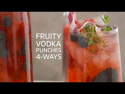 Fruity Vodka Punches 4-Ways