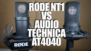 Audio Technica AT4040 vs Rode NT1 -- $300 mic shootout