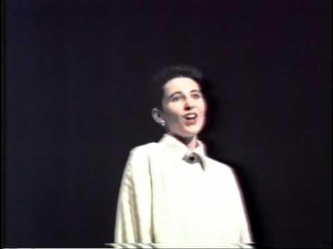 1985: Julian Anderton, opera soprano, in the Semi Finals of the Australian Singing Competition