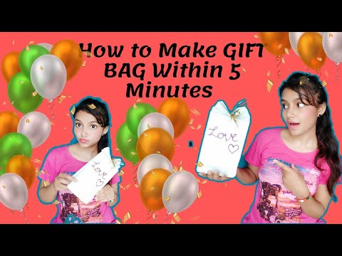 DIY crafts: Paper GIFT BAG(Easy)/How to Make GIFT BAG Within 5 minutes