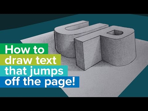 How to draw 3D text that JUMPS OFF THE PAGE! - Full tutorial