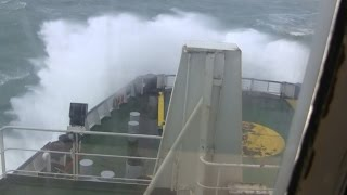 Gambar cover English channel ferry crossing in gale