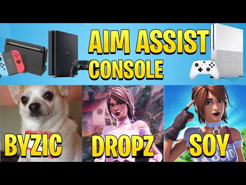 Top 5 Best AIM Assist Console Fortnite & Sens/Setup (dropz, Byzic,jamz,soy,Tilzys)