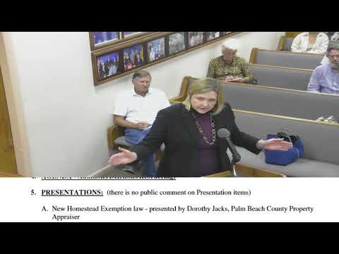 City of Lake Worth Commission Meeting December 5 2017 pt1