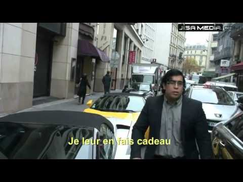 rich man gives away a ferrari to ghetto people and throws bvlgari watch to te river