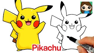 How to Draw Pikachu | Pokemon