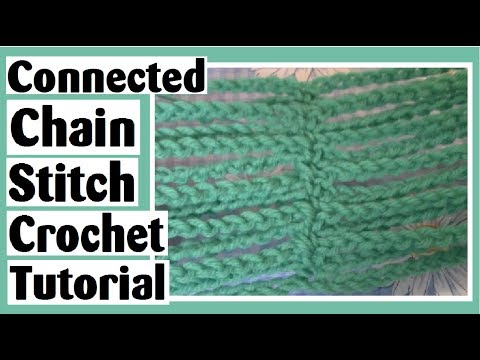 Connected Chain Stitch Crochet Tutorial – Learn How to Crochet with Darlene