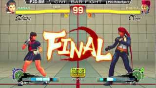 civil bar fight ssf4 ae 2012 p2d bm sk vs p2d rebelspark vi