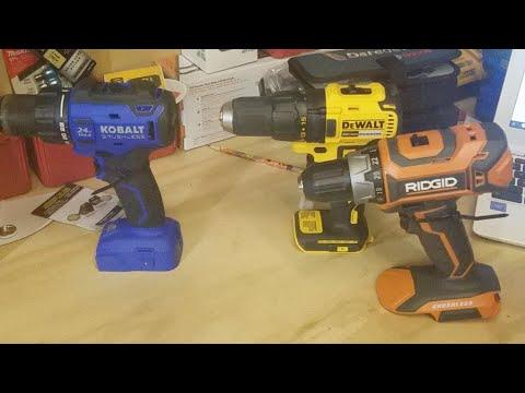 Dewalt Vs Ridgid Kobalt Brushless Drill Face Off Live
