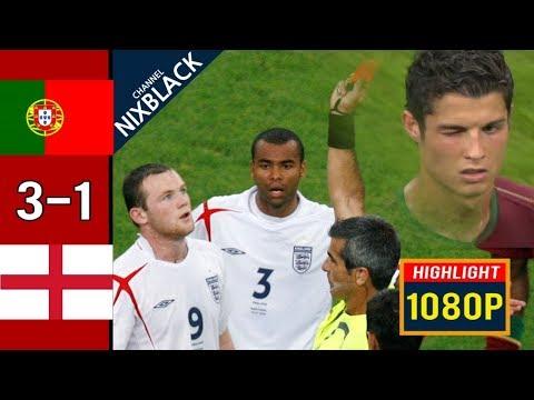 🔥 Португалия - Англия 0-0 (3-1) - Обзор Матча 1/4 Финала Чемпионата Мира 01/07/2006 HD 🔥