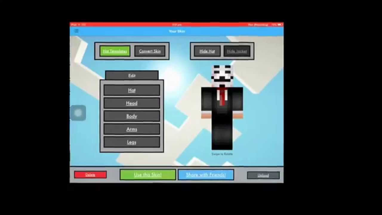 Minecraft Skin Creator For Pe And Pc Ios App Youtube