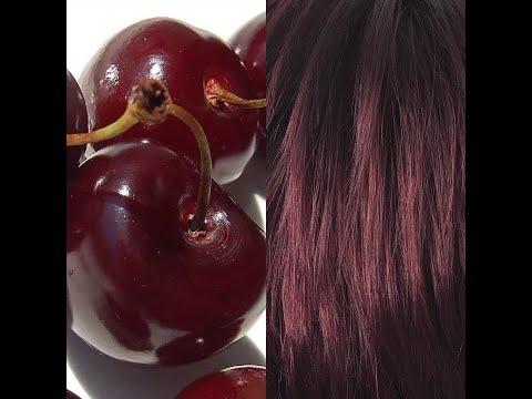 Окрашивание волос в вишневый цвет