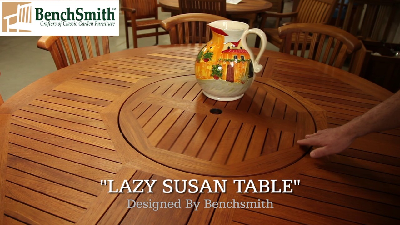 Outdoor Table With LAZY SUSAN Chester County PA 800 482 3327 Outdoor  Furniture Chester County PA