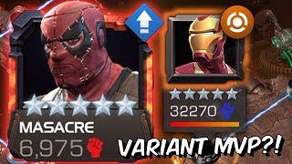 5 Star Masacre Variant MVP Gameplay! - Iron Man Infinity War Takedown - Marvel Contest of Champions