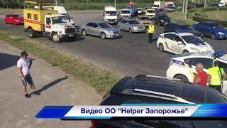 ДТП с пострадавшими, джип снёс столб ул. Новокузнецкая 21.07.17