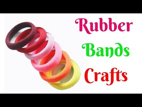 Best Out of Waste From Hair Rubber Bands Crafts Idea  - DIY Home Decor