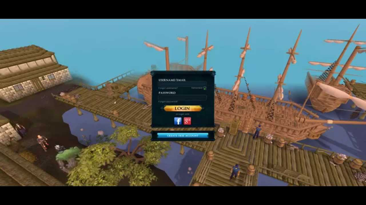 Runescape Login Screen Concept Youtube