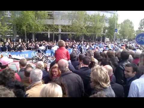 Giro 2010 Amsterdam Zuidas Klaar voor de start
