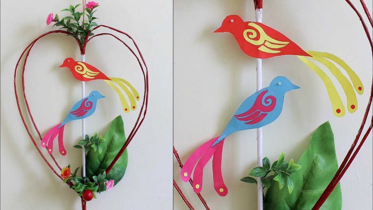 Heart Sparrow Wall Hanging Making at Home | Beast out of Waste EASY ...