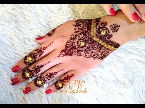 Finishing Maroon Henna Simple Henna Design Tapi Mewah Untuk
