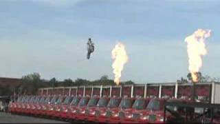 Knievel makes the jump