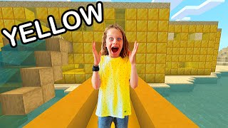 ONLY BUILDING IN ONE COLOR Minecraft Challenge Gaming w/ The Norris Nuts