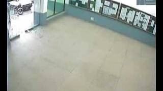 Pakistani student puzzled about automatic door