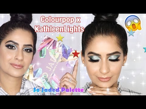 So Jaded Palette Tutorial + Review (Party Makeup) | Colourpop x KathleenLights thumbnail