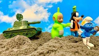 Teletubisie, Goofy i Laluś  Czołg znowu atakuje  Bajka dla dzieci PO POLSKU