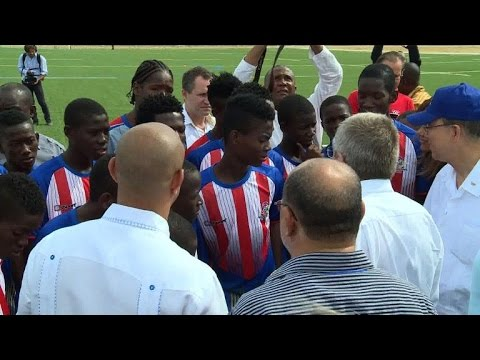 IOC opens sports complex for youth in Haitian capital