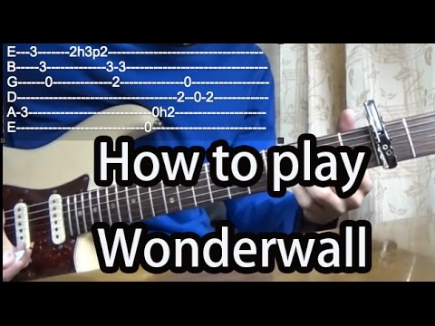 How to play Wonderwall-Oasis Guitar Tutorial with tabs - YouTube