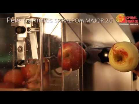 Machine peler les pommes spiralpom major 2 0 youtube - Machine pour ramasser les pommes ...