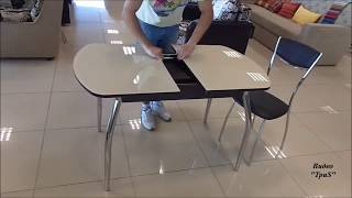 видео Стеклянный кухонный стол