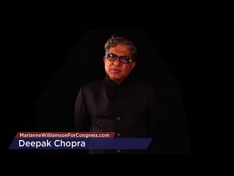 Deepak Chopra endorses Marianne Williamson for Congress
