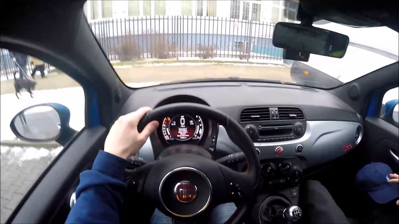 fiat 500 39 15 1 2 69 hp tuning pov test drive auto. Black Bedroom Furniture Sets. Home Design Ideas
