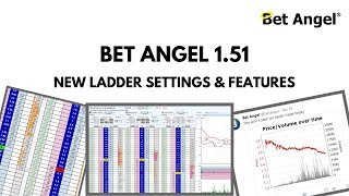 Bet Angel - Version 1.51 - New ladder settings and features